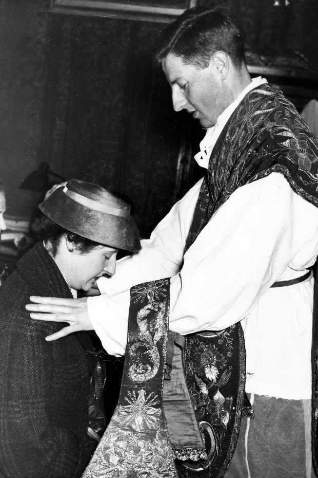 Niall blesses his sister Eileen after his Ordination in 1957