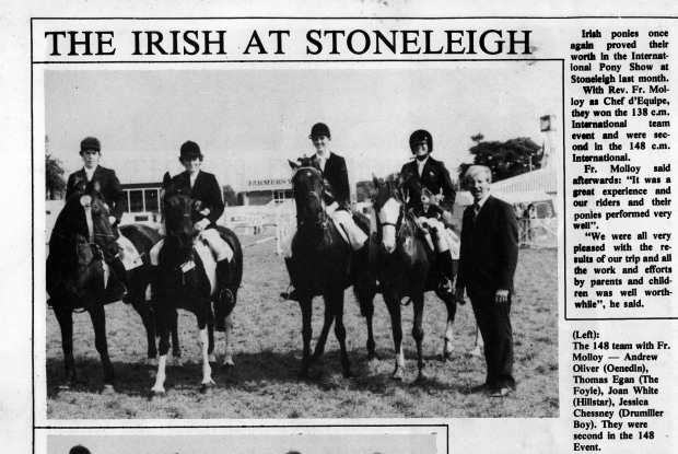 Niall at International Pony Show,Stoneleigh.1984