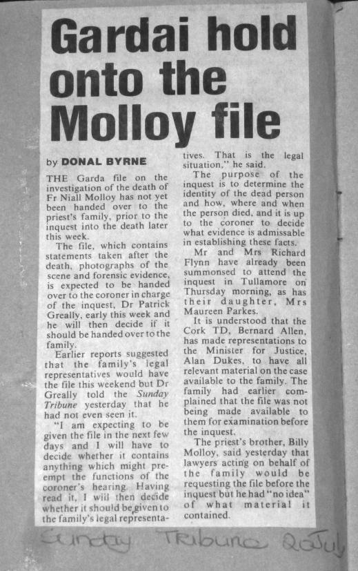 Sunday Tribune 20th July 1986