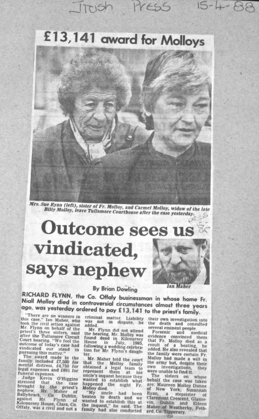 Irish Press 15 / 4 /1988