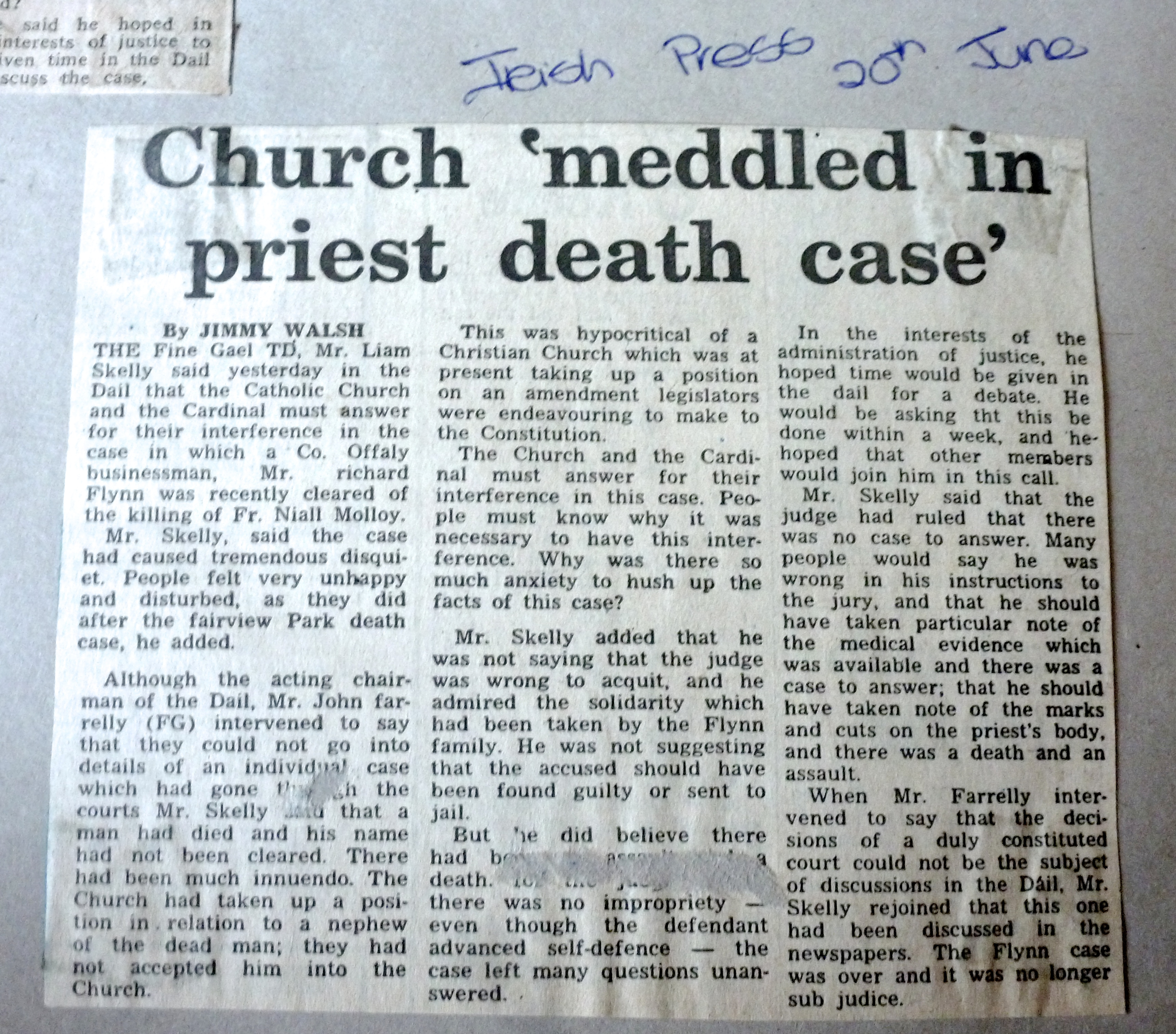Irish Press 20th June