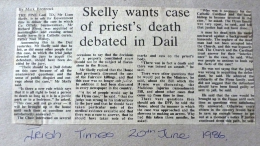 Irish Times 26th June 1986