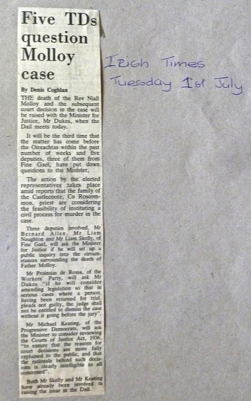 Irish Times 1st. July 1986