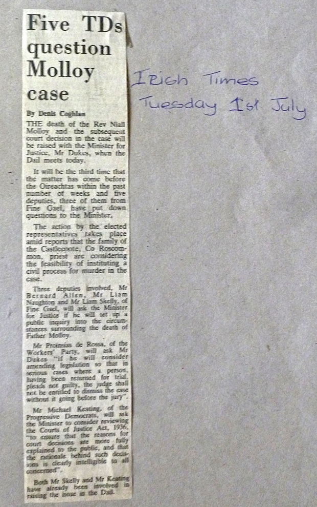 Irish Times 1st.  July 1986