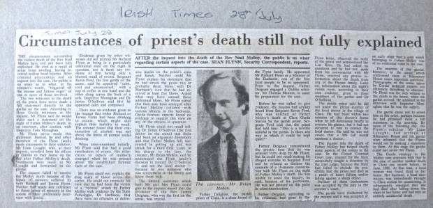 Irish times 28 / July / 1986
