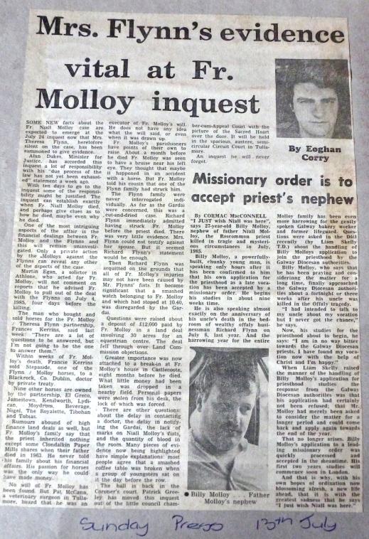 Sunday Press 13th July 1986