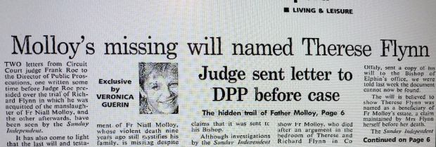 Veronica Guerin claims there was a Will. The Church always denied it.