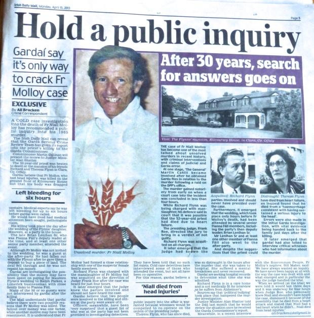 Gardai want Inquiry