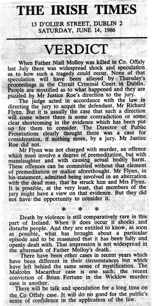 Irish Times Editorial