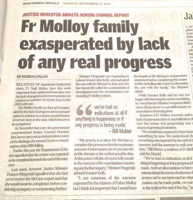 Senator John Kelly in Roscommon Herald