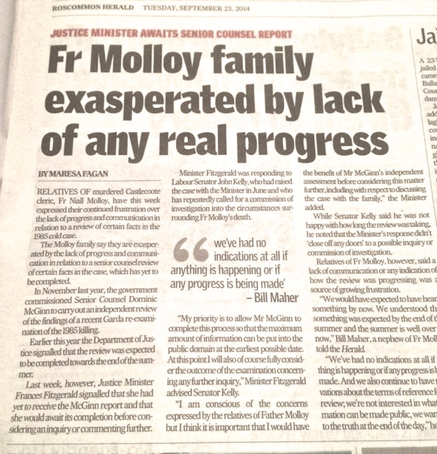 Senator John Kelly in Roscommon Herald