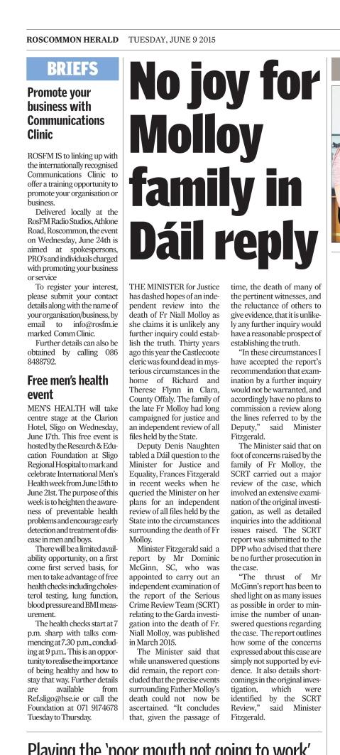Roscommon Herald 9th  June 2015