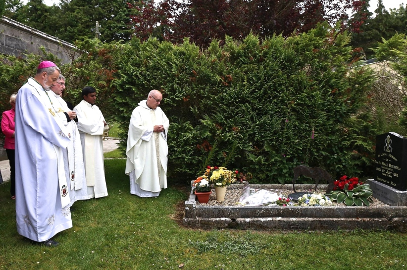 Prayers at graveside of fr. 8th July 2015 Niall Molloy